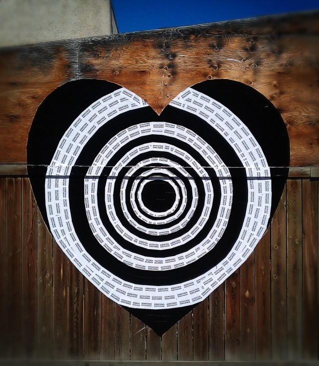 BJ's Heart Guerrilla Hearts Installation